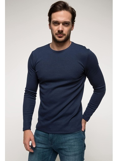 DeFacto Slim Fit Basic Body Mavi